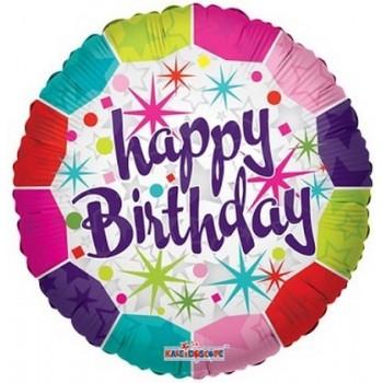 Palloncino Mylar 45 cm. R - Happy Birthday Fresh