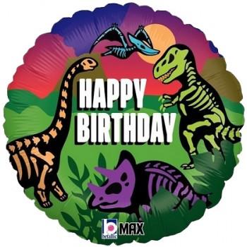 Palloncino Mylar 45 cm. R - Jurassic Birthday
