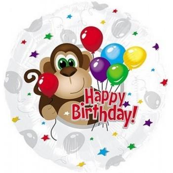 Palloncino Mylar 45 cm. R - Monkey Around Birthday