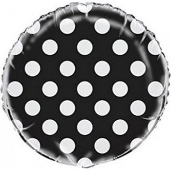 Palloncino Mylar 45 cm. R. Pois Lovely Black