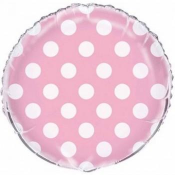 Palloncino Mylar 45 cm. R. Pois Lovely Pink