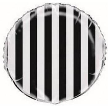 Palloncino Mylar 45 cm. R. Strisce Lovely Black