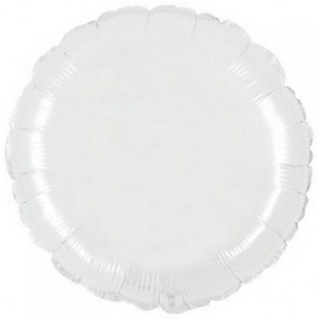 Palloncino Mylar 45 cm. Rotondo Bianco
