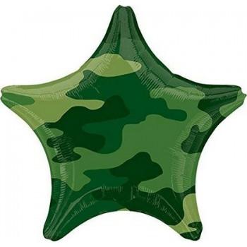 Palloncino Mylar 45 cm. S. Camouflage Star