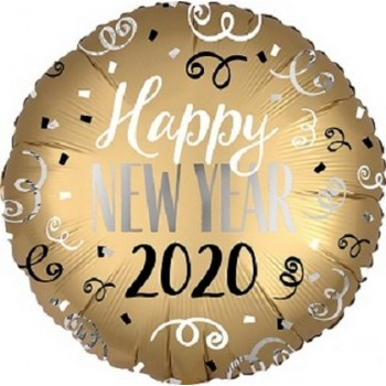 Palloncino Mylar 45 cm. Satin Infused 2020 New Year
