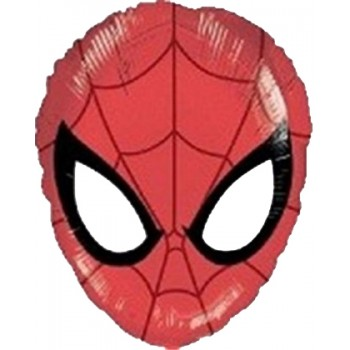 Palloncino Mylar Mini Shape 22 cm. Santa Fun Face