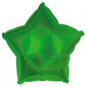 Palloncino Mylar 45 cm. Stella Olografica Verde