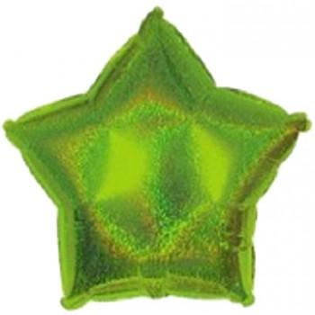 Palloncino Mylar 45 cm. Stella Olografica Verde Lime