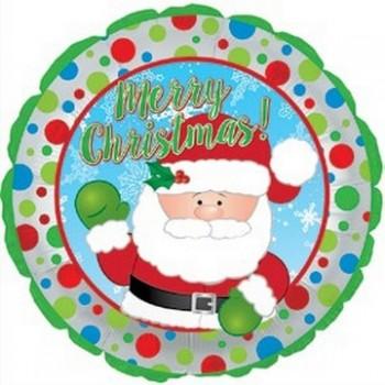 Palloncino Mylar 45 cm. Waving Santa