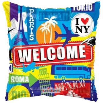 Palloncino Mylar 45 cm. Welcome Capital Cities