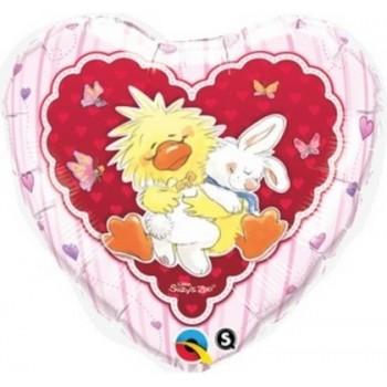 Palloncino Mylar 45 cm. Witzy & Lulla In Love