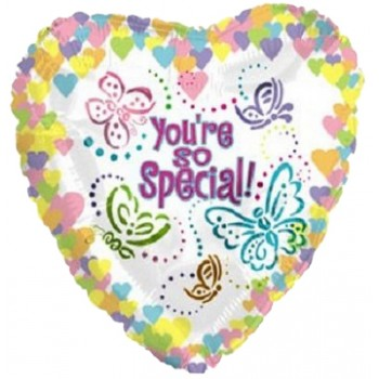 Palloncino Mylar 45 cm. You're Special Pastel Butterfly Heart