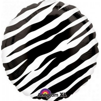 Palloncino Mylar 45 cm. Zebra Print
