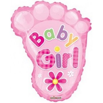Palloncino Mylar 50 cm. Girl - Baby Girl Foot