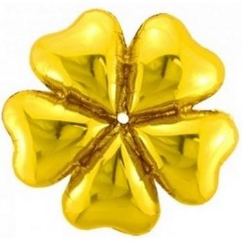 Palloncino Mylar 55 cm. Fiore Oro - NO ELIO