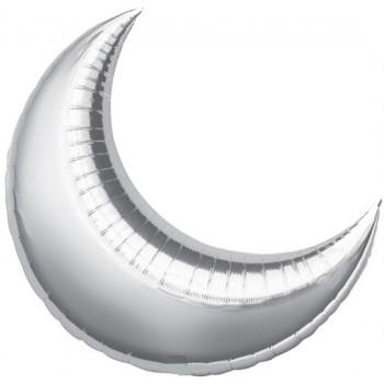 Palloncino Mylar 91 cm. Luna Grande Argento