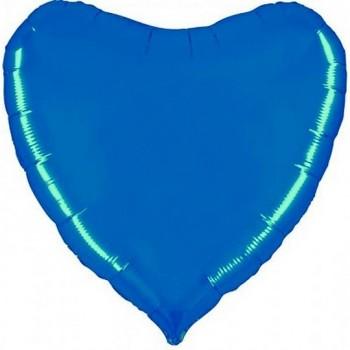 Palloncino Mylar Jumbo 91 cm. Cuore Blu