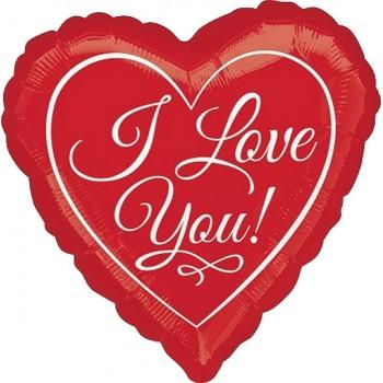 Palloncino Mylar Jumbo 91 cm. I Love You Stripes & Hearts