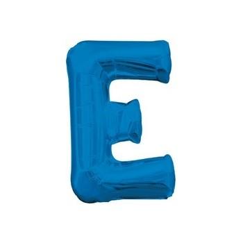 Palloncino Mylar Lettera E Media - 40 cm. Blu Anagram
