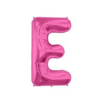Palloncino Mylar Lettera E Media - 41 cm. Fucsia