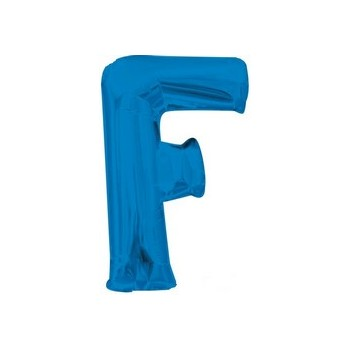 Palloncino Mylar Lettera F Media - 40 cm. Blu Anagram