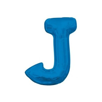 Palloncino Mylar Lettera J Media - 40 cm. Blu Anagram