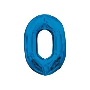 Palloncino Mylar Lettera O Media - 40 cm. Blu Anagram