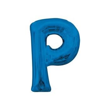 Palloncino Mylar Lettera P Media - 40 cm. Blu Anagram