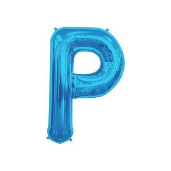 Palloncino Mylar Lettera P Media - 41 cm. Blu