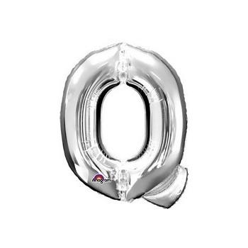Palloncino Mylar Lettera Q Media - 40 cm. Argento Anagram