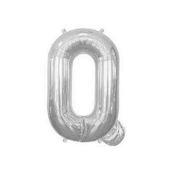 Palloncino Mylar Lettera Q Media - 41 cm. Argento