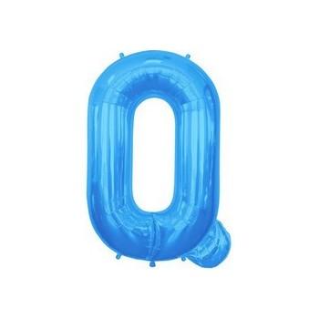 Palloncino Mylar Lettera Q Media - 41 cm. Blu