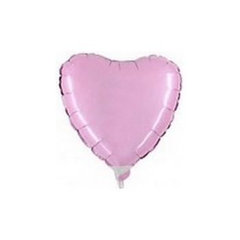Palloncino Mylar Micro 10 cm. Cuore Rosa