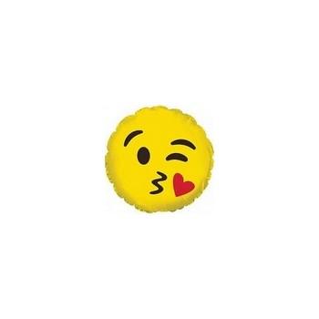 Palloncino Mylar Micro 10 cm. Emoticon Smile Blowing Kiss