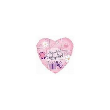 Palloncino Mylar Micro 10 cm. Girl - New Baby Son Star