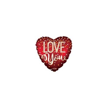 Palloncino Mylar Micro 11 cm. Love You Red Matte