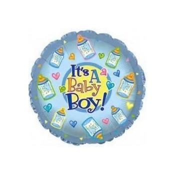 Palloncino Mylar Mini Shape 22 cm. Boy - Baby Boy Bottles