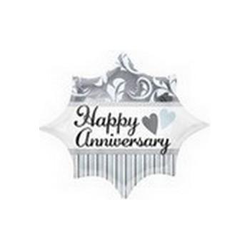 Palloncino Mylar Mini Shape 22 cm. Elegant Anniversary Burst