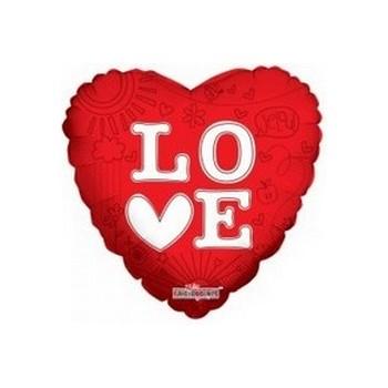 Palloncino Mylar Mini Shape 22 cm. Love