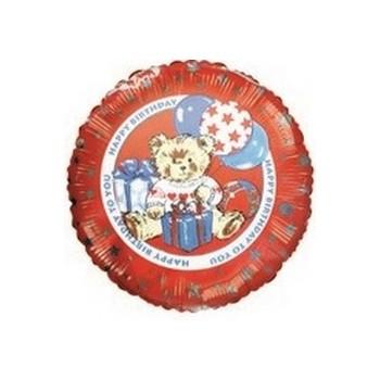 Palloncino Mylar Mini Shape 22 cm. Ted Stuffins Happy Birthday