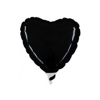 Palloncino Mylar Mini Shape 23 cm. Cuore Nero