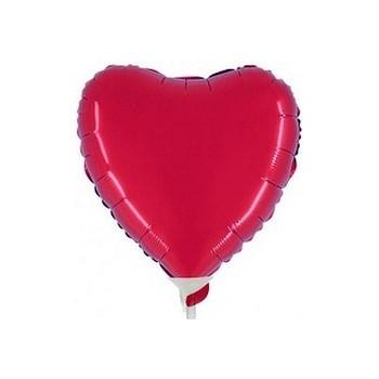 Palloncino Mylar Mini Shape 23 cm. Cuore Rosso