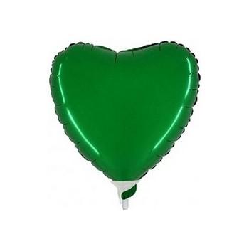 Palloncino Mylar Mini Shape 23 cm. Cuore Verde Scuro