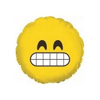 Palloncino Mylar Mini Shape 23 cm. Emoticon Grinning Face