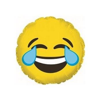 Palloncino Mylar Mini Shape 23 cm. Emoticon Tears of Joy