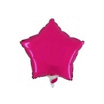 Palloncino Mylar Mini Shape 23 cm. Stella Fucsia