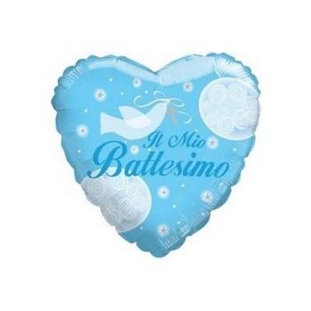 Palloncino Mylar Mini Shape 25 cm. Il mio Battesimo Azzurro