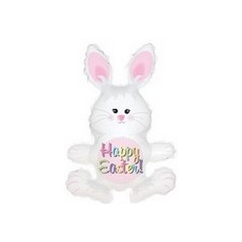 Palloncino Mylar Mini Shape 30 cm. Easter Black Eyed Bunny