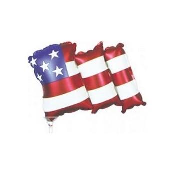 Palloncino Mylar Mini Shape 30 cm. Waving Flag