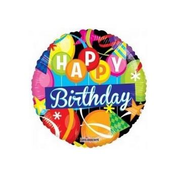 Palloncino Mylar Mini Shape 35 cm. Birthday Motifs Gelli